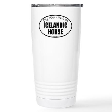 Icelandic Horse Stainless Steel Travel Mug