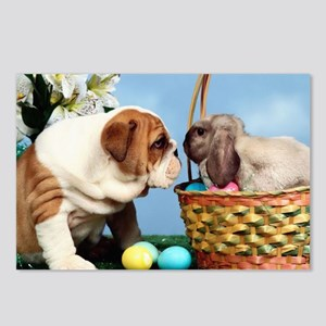 BULLDOG & EASTER BUNNY Postcards (Package of 8)