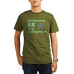 Science IS my religion. Organic Men's T-Shirt (dar