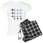 Fencing Sword Grid Women's Light Pajamas
