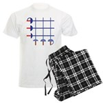Fencing Sword Grid Men's Light Pajamas