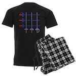 Fencing Sword Grid Men's Dark Pajamas