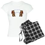 Teddy Bear Fencers Women's Light Pajamas
