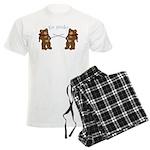 Teddy Bear Fencers Men's Light Pajamas