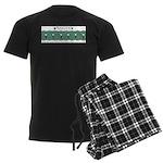 Fencing Salute Men's Dark Pajamas