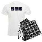 Fencing Thrust Sequence Men's Light Pajamas