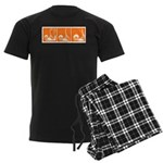Orange Fencer's Thrust Men's Dark Pajamas