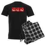 Red Fencing Thrust Men's Dark Pajamas
