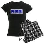 Blue Fencing Thrust Women's Dark Pajamas