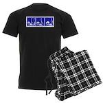Blue Fencing Thrust Men's Dark Pajamas