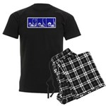 Blue Fencing Thrust Men's Dark Pajamas