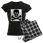 Skull and Crossed Bones Women's Dark Pajamas