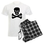 Skull and Crossed Bones Men's Light Pajamas
