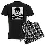 Skull and Crossed Bones Men's Dark Pajamas