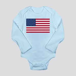 American Flag Long Sleeve Infant Bodysuit