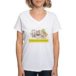 Library Cat Women's V-Neck T-Shirt