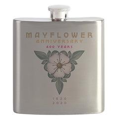 Mayflower Anniversary Emblem Flask