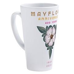 Mayflower Anniversary Emblem 17 oz Latte Mug