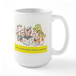 Library Cat Large Mug