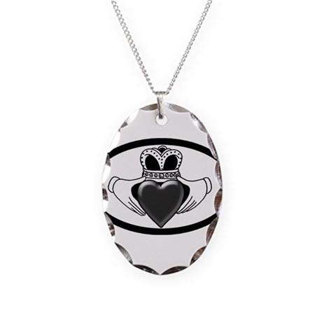 Brain Cancer Awareness Necklace Oval Charm