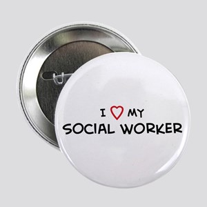 I Love Social Worker Button