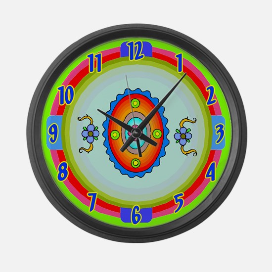 Southwestern Art Large Wall Clock
