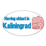Oblast in Kaliningrad Sticker (Oval 10 pk)