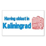 Oblast in Kaliningrad Sticker (Rectangle)