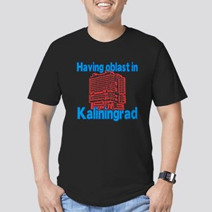 Oblast in Kaliningrad Men's Fitted T-Shirt (dark)