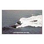 USS CINCINNATI Sticker (Rectangle)