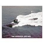 USS CINCINNATI Small Poster