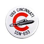 """USS CINCINNATI 3.5"""" Button"""