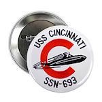 """USS CINCINNATI 2.25"""" Button"""