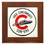 USS CINCINNATI Framed Tile