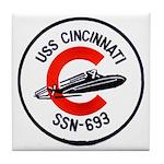 USS CINCINNATI Tile Coaster