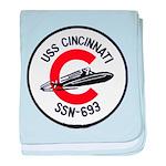 USS CINCINNATI baby blanket