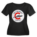 USS CINC Women's Plus Size Scoop Neck Dark T-Shirt