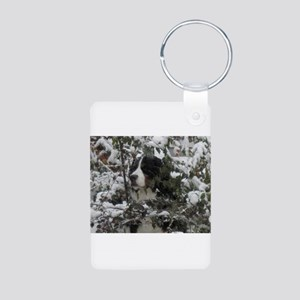 Lost in the Snow Aluminum Photo Keychain