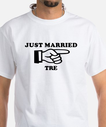 Just Married Tre White T-Shirt