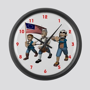 USA Independence Large Wall Clock