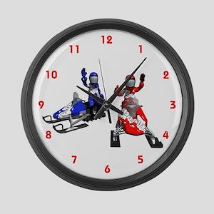 Snowmobile Large Wall Clock