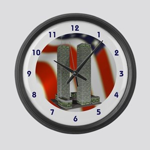 New York Twin Towers Large Wall Clock