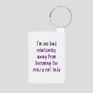 Crazy Cat Lady Aluminum Photo Keychain