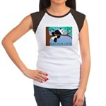 Panda Reads.Knows.Grows. Women's Cap Sleeve T