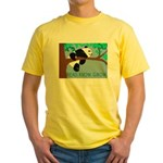 Panda Reads.Knows.Grows. Yellow T-Shirt