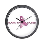 Hooray for Boobies! Wall Clock