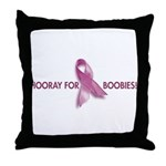 Hooray for Boobies! Throw Pillow