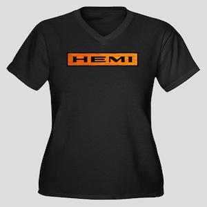 HEMI Women's Plus Size V-Neck Dark T-Shirt