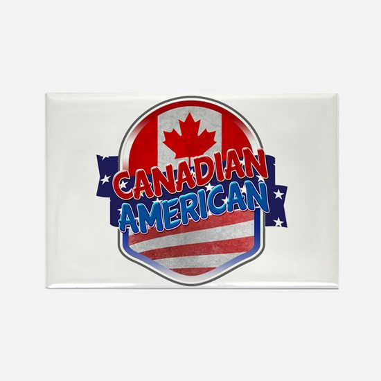 Canadian American Rectangle Magnet