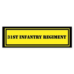 31st Infantry Regiment Sticker (Bumper)
